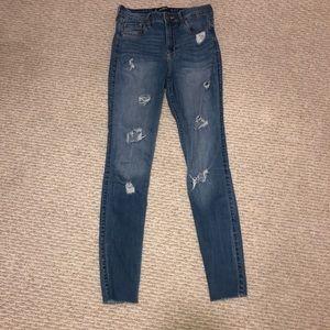 Skinny ripped Hollister jeans W27 L30